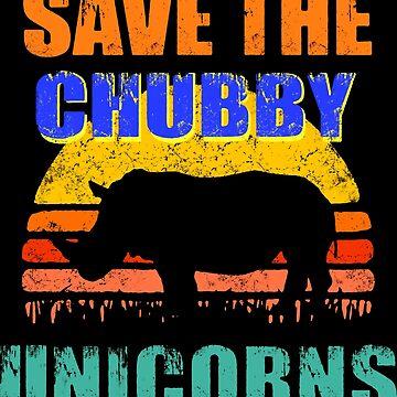 Save The Chubby Unicorns Vintage Retro by hernandez667
