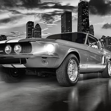 GT 350 Shelby Mustang, Black and White by hottehue