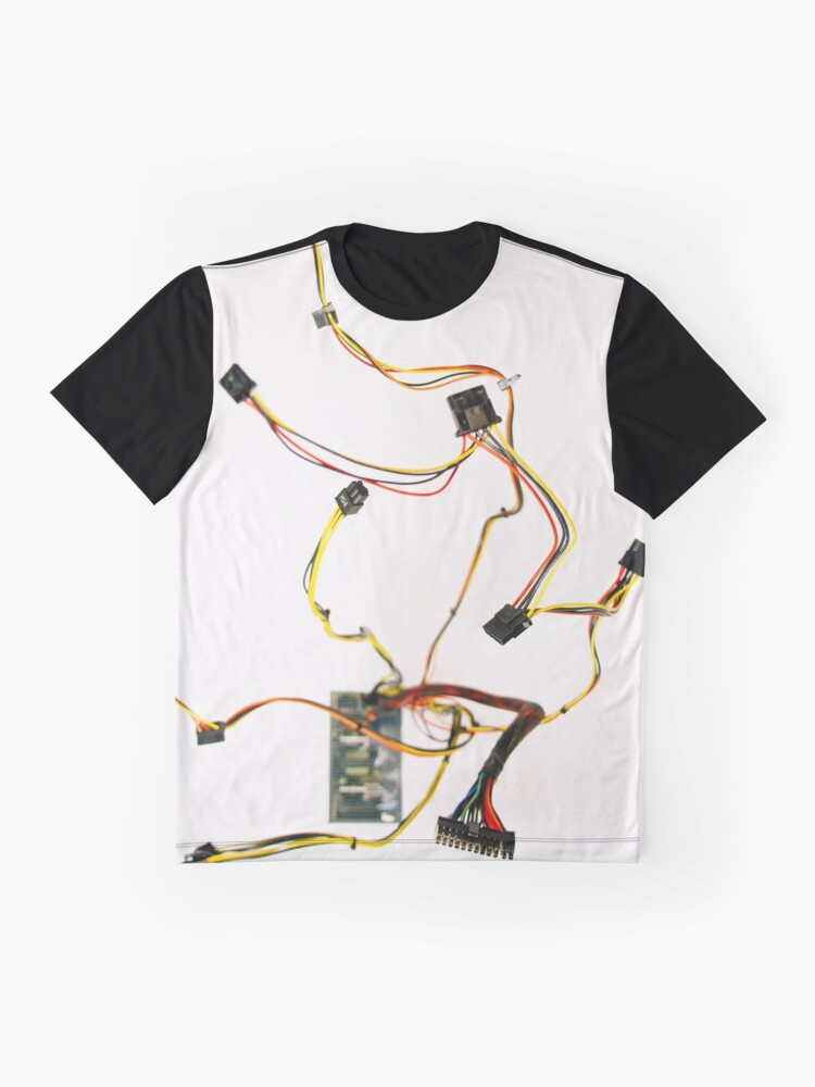 Alternate view of Power Supply Cable Graphic T-Shirt