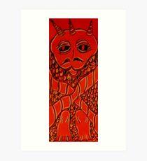 Hercamus Gargolon (the pantry imp) Art Print