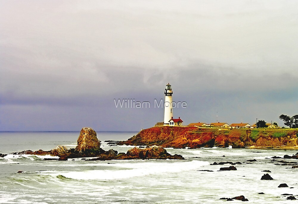 """""""Spring Storm"""" - Pigeon Point Lighthouse by William Moore"""