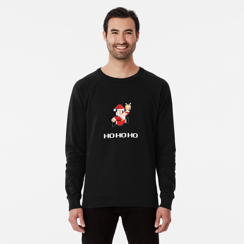 8-Bit Weihnachtsmann Leichter Pullover
