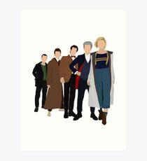 Doctor Who - Alle fünf modernen Ärzte - Neues Kostüm! (DW inspiriert) - 13. Doktor Kunstdruck