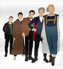 Doctor Who - All Five Modern Doctors - New Costume! (DW Inspired) - 13th Doctor Poster