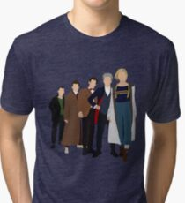 Doctor Who - All Five Modern Doctors - New Costume! (DW Inspired) - 13th Doctor Tri-blend T-Shirt