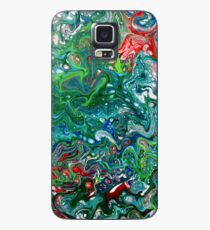 Rhapsody in Blue and Green Unique iPhone and Samsung Galaxy Phone Cover, Case, or Skin Case/Skin for Samsung Galaxy