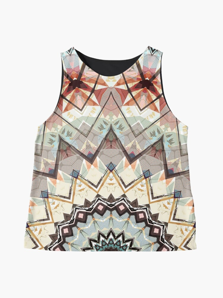 Alternate view of Autumn Colors Abstract Sleeveless Top