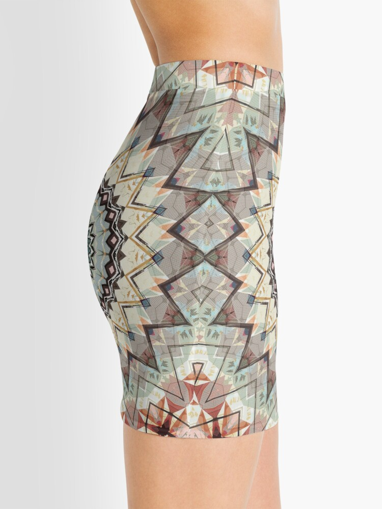 Alternate view of Autumn Colors Abstract Mini Skirt