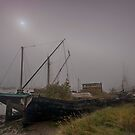 Old Boats At Upnor  by Dave Godden