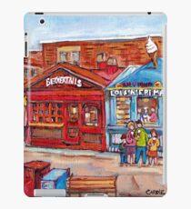 OTTAWA BYWARD MARKET CANADIAN SCENES OUTDOOR URBAN MALLS ICE CREAM AND PASTRY SHOPS C SPANDAU ARTIST iPad Case/Skin