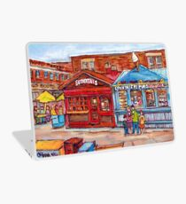 OTTAWA BYWARD MARKET CANADIAN SCENES OUTDOOR URBAN MALLS ICE CREAM AND PASTRY SHOPS C SPANDAU ARTIST Laptop Skin