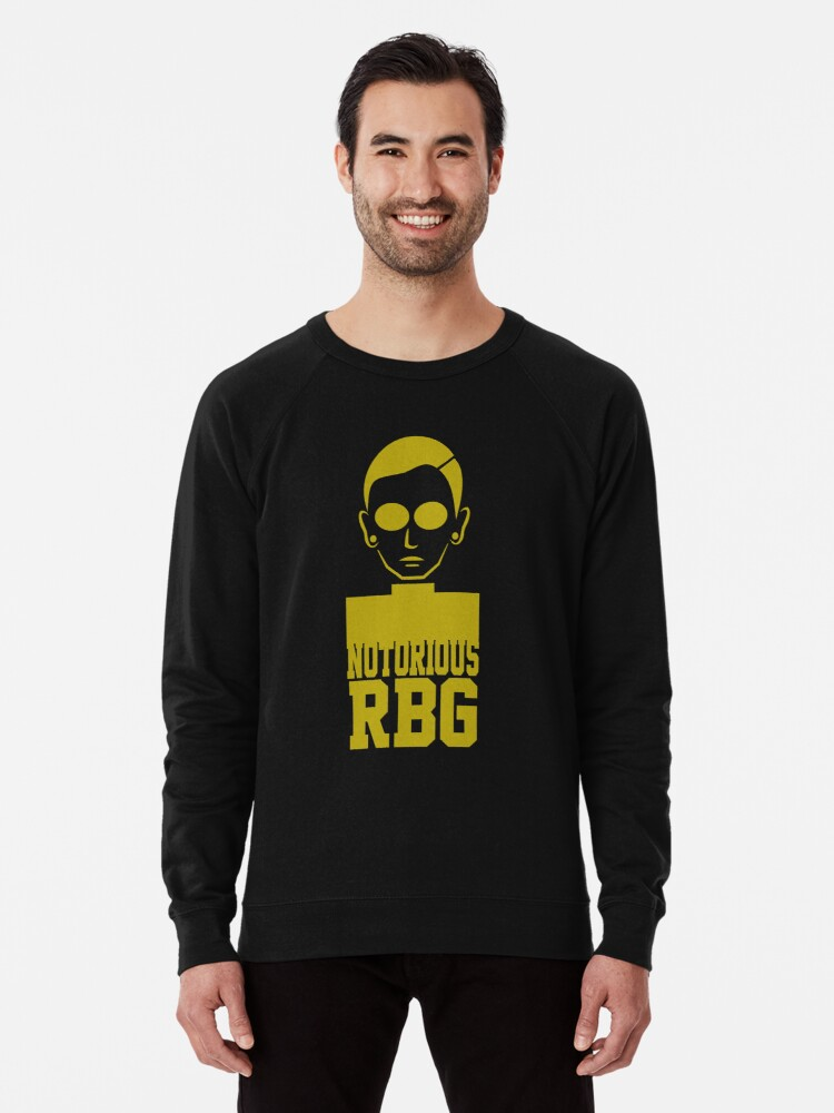 Notorious Rbg Ruth Bader Ginsburg T Shirt Lightweight Sweatshirt By Mcdelight Redbubble
