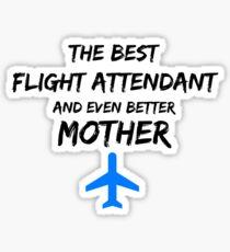 Flight Attendant Mom Best Mother Funny Gift Blue Plane Sticker