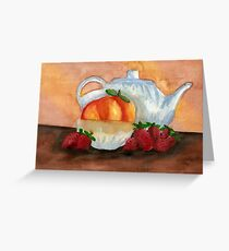 Teapot Still Life Greeting Card