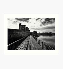 Dramatic Blackness Castle Art Print