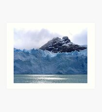 Views of snow peaks and glaciers of Andes mountains, Patagonia, Argentina Art Print