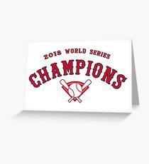 Boston Red Sox 2018 Weltmeisterschaft Meister Grußkarte