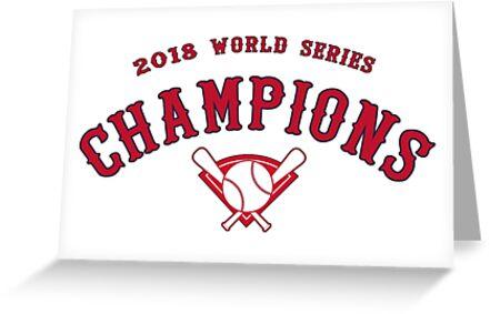 Boston Red Sox 2018 Weltmeisterschaft Meister von Evaporate