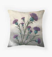 Scottish traditional purple thistle  Throw Pillow