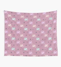 Cupids in pink Wall Tapestry
