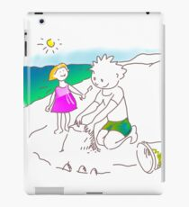 Auf zum Strand, Kinder! - ¡Vamos a la playa, niños!  -  Let´s Go to the Beach, Kids! Vinilo o funda para iPad