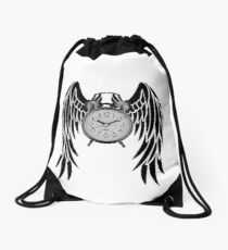 Time is flying! Drawstring Bag