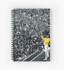 Fredddie Mercury Rock Concert Yellow Jacket Spiral Notebook