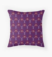 Anne Boleyn B necklace in purple Throw Pillow
