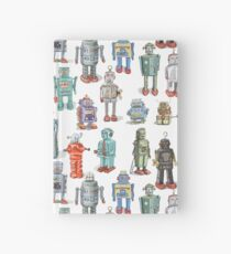 Fun Retro Robots Hardcover Journal