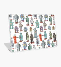 Fun Retro Robots Laptop Skin