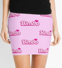 Bimbo in cute little dolly doll font Mini Skirt