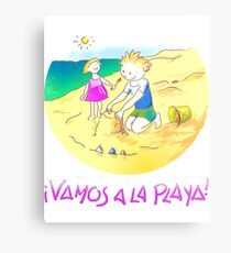 ¡Vamos a la playa, niños!  -  Let´s Go to the Beach, Kids!  - Auf zum Strand, Kinder! Lienzo metálico