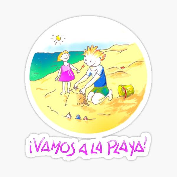 ¡Vamos a la playa, niños!  -  Let´s Go to the Beach, Kids!  - Auf zum Strand, Kinder! Sticker