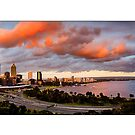 Perth Skyline by Kirk  Hille