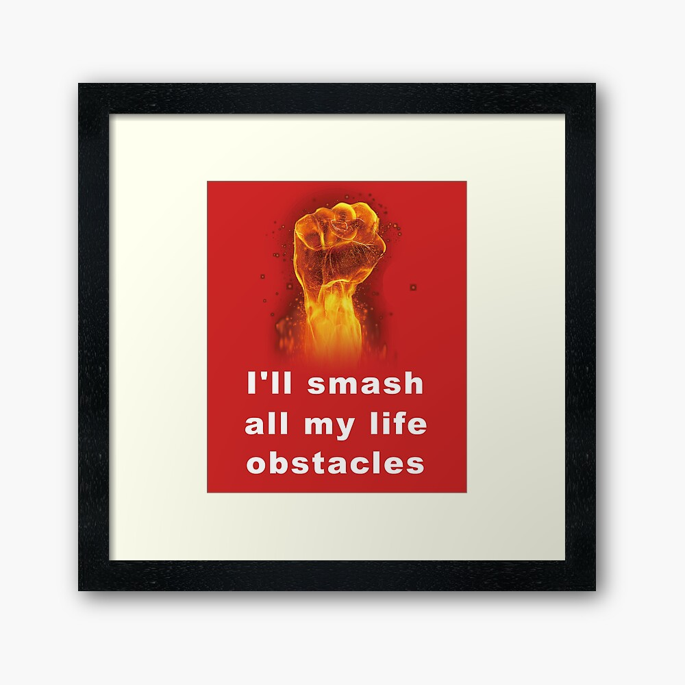 challenge obstacles T-shirt, Life difficulties Framed Art Print
