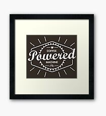 Coffee Powered Bicycle Framed Print