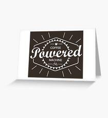 Coffee Powered Bicycle Greeting Card