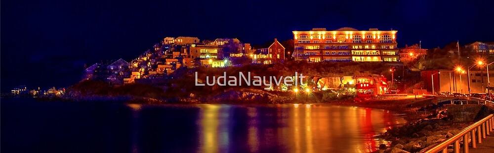 Night  in Nantasket Beach  by LudaNayvelt