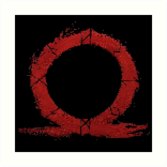 """God of War - Runic Omega symbol"" Art Print by deadmoonelf ..."