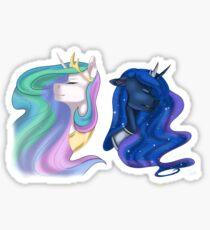 Princess Celestia and Luna Sticker