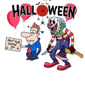 Halloween Clown Funny Horror Scary Clown by hip-hop-art