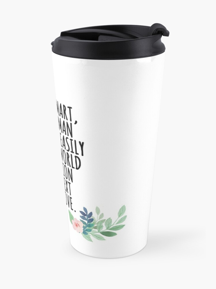 Alternate view of smart, savvy woman Travel Mug