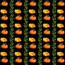 Pumpkin Leaves Pretty Painted Pumpkins by dkatesmith