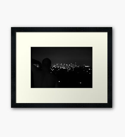 waiting + watching Framed Print
