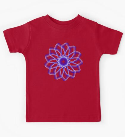 Blue Lines Abstract Flower Kids Clothes