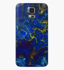 Electric Blue Abstract Art iPhone and Samsung Galaxy Phone Cover Case/Skin for Samsung Galaxy