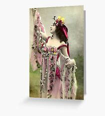 Vintage *Beautiful Bell and Her Flowers* Greeting Card