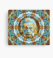 Albert Einstein Brain Power Canvas Print
