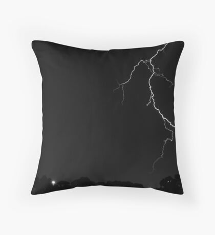 Lightning Crashes Throw Pillow