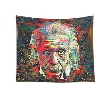 Dark Matter - Albert Einstein Wall Tapestry